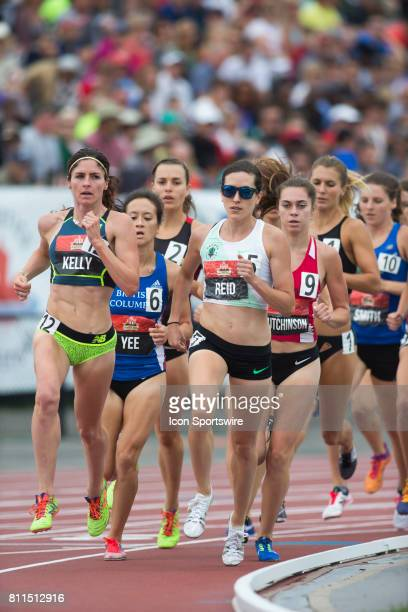 Sheila Reid and Mariah Kelly in the 1500m semifinals at the Canadian Track and Field Championships on 8 July 2017 at the Terry Fox Athletic Facility...