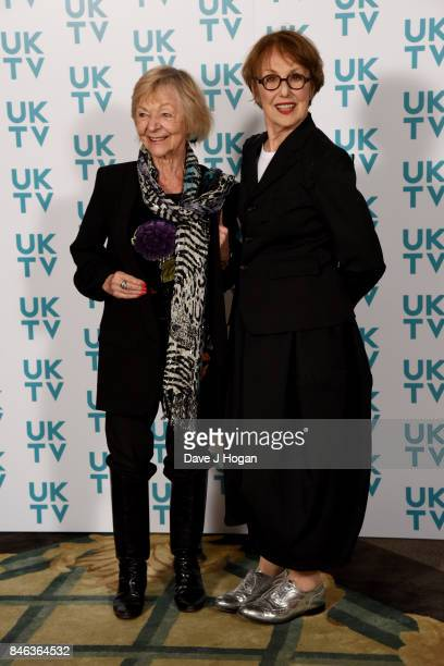 Sheila Reid and Una Stubbs attend the UKTV Live 2017 photocall at Claridges Hotel on September 13 2017 in London England Broadcaster announces it's...