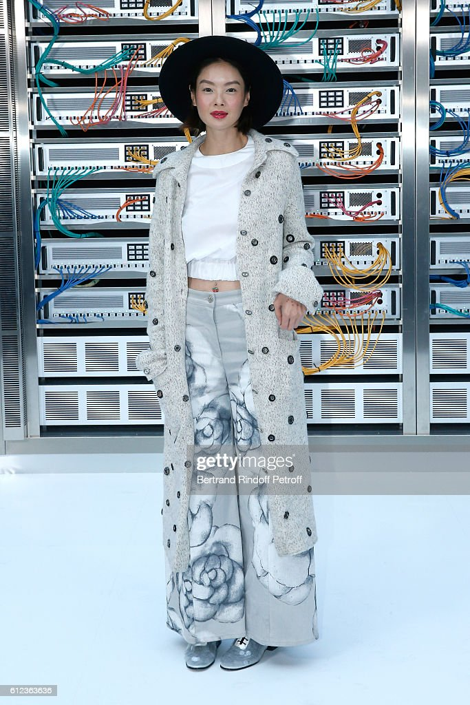 Sheila Sim attends the Chanel show as part of the Paris Fashion Week Womenswear Spring/Summer 2017 on October 4, 2016 in Paris, France.