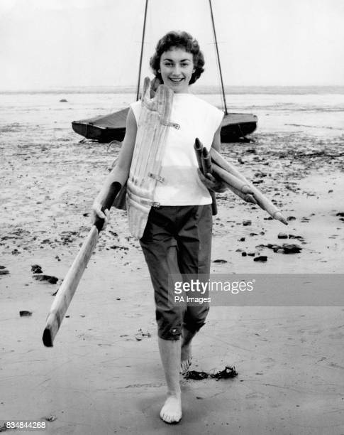 Sheila Thompson enjoyed playing cricket on the beach at WestonsuperMare