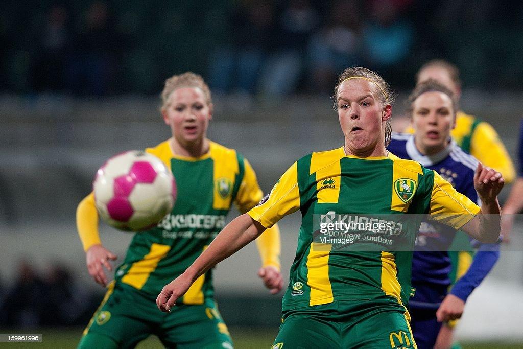 Sheila van den Bulk of ADO Den Haag during the women BeNe league match between ADO Den Haag and RSC Anderlecht on January 24, 2013 at the Kyocera stadium at The Hague, Netherlands.
