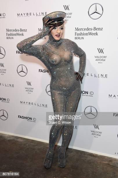 Sheila Wolf attends the Lena Hoschek show during the MercedesBenz Fashion Week Berlin Spring/Summer 2018 at Kaufhaus Jandorf on July 4 2017 in Berlin...