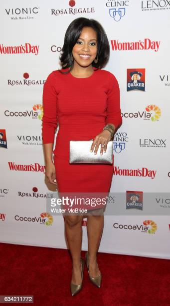 Sheinelle Jones attends the 14th Annual Red Dress Awards presented by Woman's Day Magazine at Jazz at Lincoln Center Appel Room on February 7 2017 in...