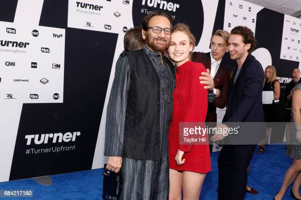 Shekhar Kapur and Olivia DeJonge attend the 2017 Turner Upfront at Madison Square Garden on May 17 2017 in New York City