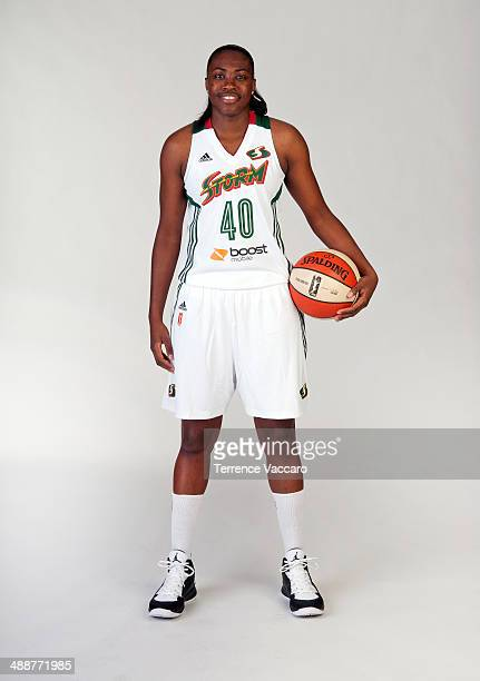 Shekinna Stricklen of the Seattle Storm poses for a photo during WNBA Media Day on May 7 2014 at Key Arena in Seattle Washington NOTE TO USER User...