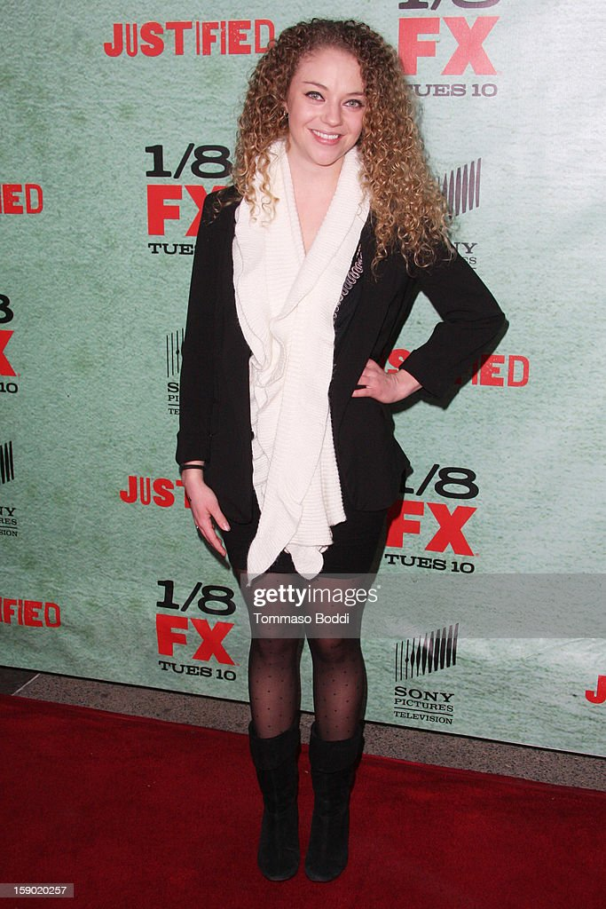Shelby Malone attends the FX's 'Justified' season 4 premiere held at Paramount Theater on the Paramount Studios lot on January 5, 2013 in Hollywood, California.