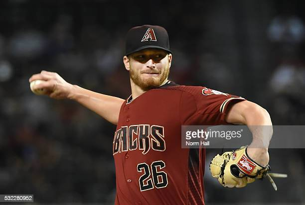 Shelby Miller of the Arizona Diamondbacks delivers a firstinning pitch against the New York Yankees at Chase Field on May 18 2016 in Phoenix Arizona