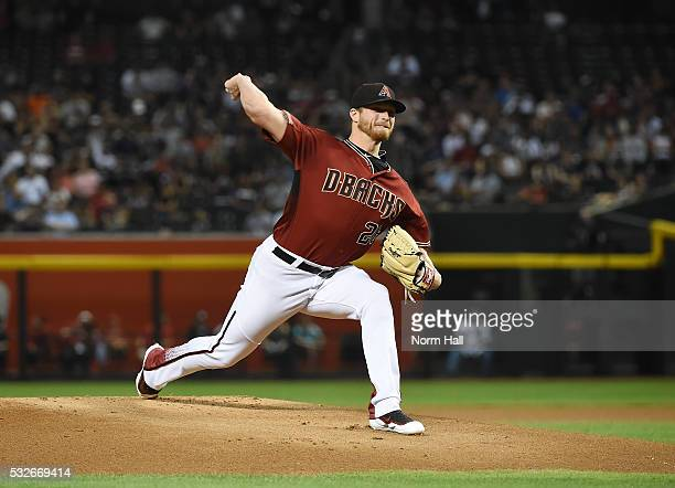 Shelby Miller of the Arizona Diamondbacks delivers a firstinning pitch against the New York Yankees at Chase Field on May 18 2016 in Phoenix Arizona...