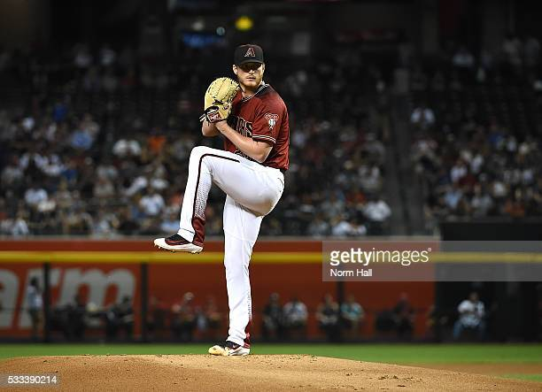 Shelby Miller of the Arizona Diamondbacks delivers a pitch against the New York Yankees at Chase Field on May 18 2016 in Phoenix Arizona