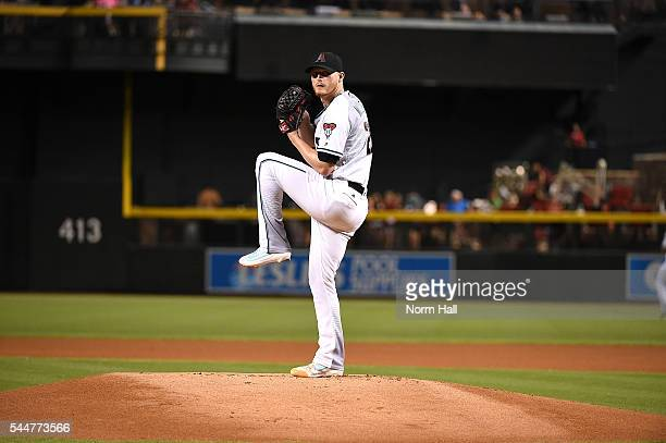 Shelby Miller of the Arizona Diamondbacks delivers a pitch against the San Francisco Giants at Chase Field on July 1 2016 in Phoenix Arizona