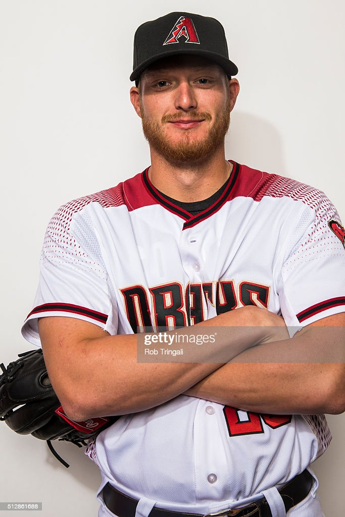 <a gi-track='captionPersonalityLinkClicked' href=/galleries/search?phrase=Shelby+Miller&family=editorial&specificpeople=4761626 ng-click='$event.stopPropagation()'>Shelby Miller</a> #26 of the Arizona Diamondbacks poses during photo day at Salt River Fields at Talking Stick on February 28, 2016 in Scottsdale, Arizona.