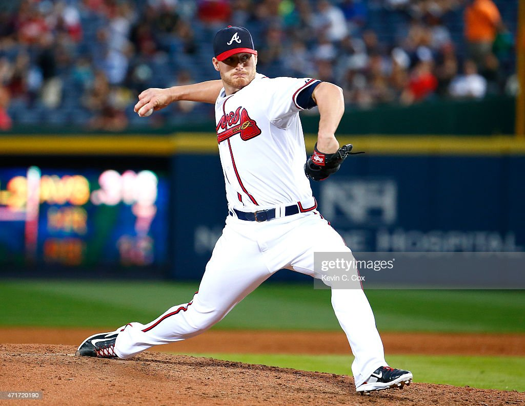 <a gi-track='captionPersonalityLinkClicked' href=/galleries/search?phrase=Shelby+Miller&family=editorial&specificpeople=4761626 ng-click='$event.stopPropagation()'>Shelby Miller</a> #17 of the Atlanta Braves pitches in the sixth inning to the Cincinnati Reds at Turner Field on April 30, 2015 in Atlanta, Georgia.