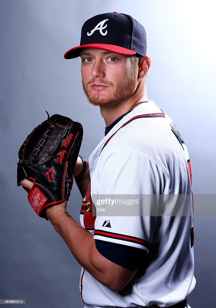 <a gi-track='captionPersonalityLinkClicked' href=/galleries/search?phrase=Shelby+Miller&family=editorial&specificpeople=4761626 ng-click='$event.stopPropagation()'>Shelby Miller</a> #17 of the Atlanta Braves poses for a portrait on March 2, 2015 at Champion Stadium in Lake Buena Vista, Florida.
