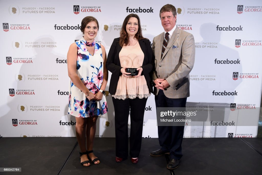 Shelby Silverman, Amy Green, and Peabody Awards Executive Director Jeffrey Jones attend the Peabody-Facebook Futures Of Media Awards at Hotel Eventi on May 19, 2017 in New York City.
