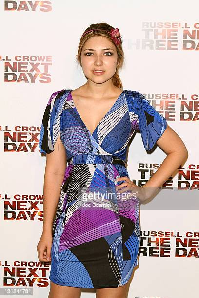 Shelby Young arrives to the 'The Next Three Days' Los Angeles Premiere at Directors Guild Of America on November 16 2010 in Los Angeles California