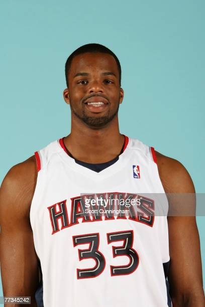 Shelden Williams of the Atlanta Hawks poses for a portrait during NBA Media Day at Philips Arena on October 1 2007 in Atlanta Georgia NOTE TO USER...