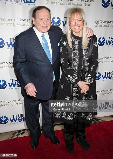 Sheldon Adelson and Miriam Ochsorn attend the Champions Of Jewish Values international gala at Cipriani 42nd Street on May 18 2014 in New York City