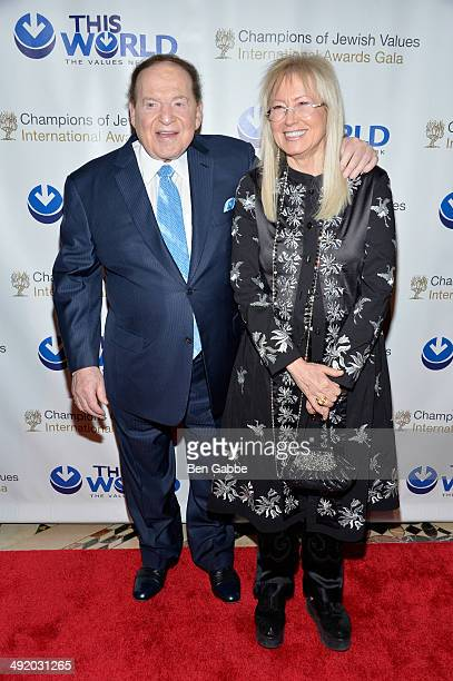 Sheldon Adelson and Miriam Ochsorn attend World Jewish Values Network second annual gala dinner on May 18 2014 in New York City