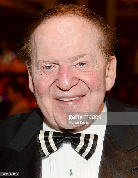 Sheldon Adelson attends the John Wayne Cancer Institute Auxiliary's 29th Annual Odyssey Ball at Regent Beverly Wilshire Hotel on April 5 2014 in...