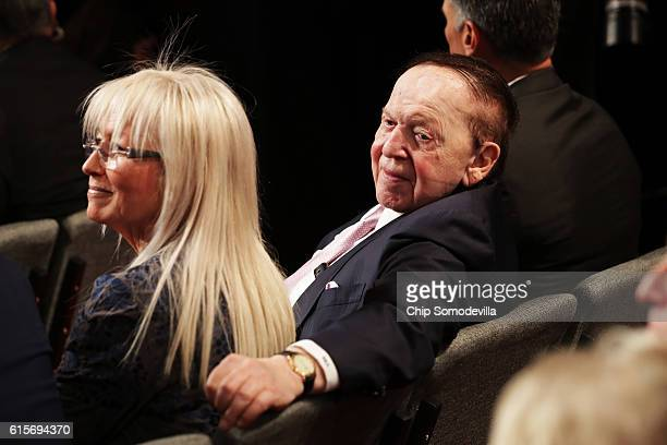 Sheldon Adelson attends the third US presidential debate at the Thomas Mack Center on October 19 2016 in Las Vegas Nevada Tonight is the final debate...