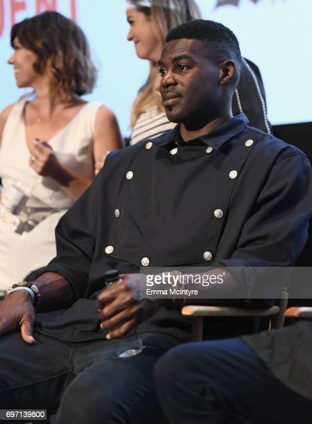 Sheldon Bailey speaks at the 'Izzy Gets The Fuck Across Town' and 'Ok Call Me Back' Premieres during the 2017 Los Angeles Film Festival at Arclight...