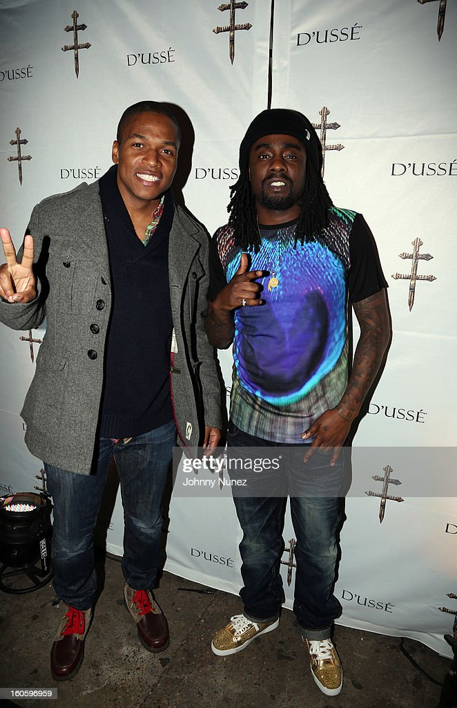 Sheldon Candis and Wale attend the Jay-Z & D'Usse Super Bowl Party at The Republic on February 2, 2013, in New Orleans, Louisiana.