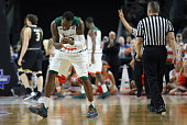 Sheldon McClellan of the Miami Hurricanes reacts in the second half against the Wichita State Shockers during the second round of the 2016 NCAA Men's...