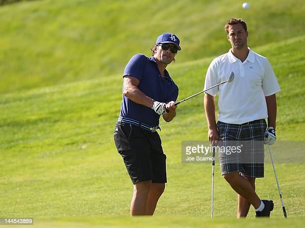 Sheldon Souray and Ethan Moreau attend the OMEGA Trophy Golf Outing at Trump National Golf Club on May 15 2012 in Palos Verdes Estates California