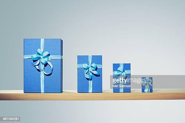 Shelf with presents