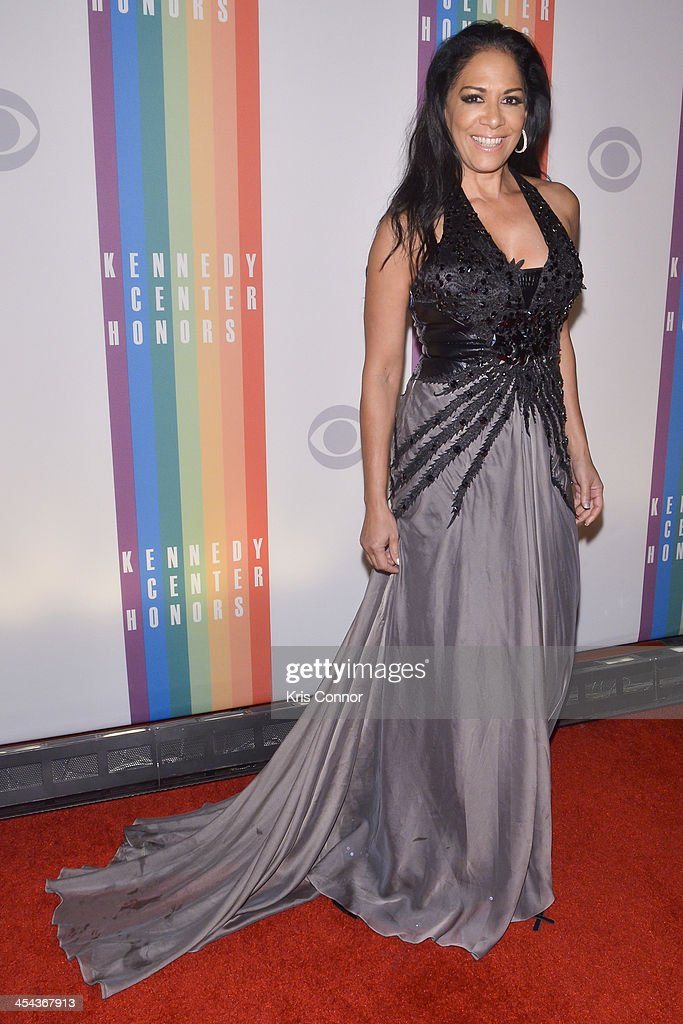 Shelia E poses on the red carpet during the The 36th Kennedy Center Honors gala at the Kennedy Center on December 8, 2013 in Washington, DC.