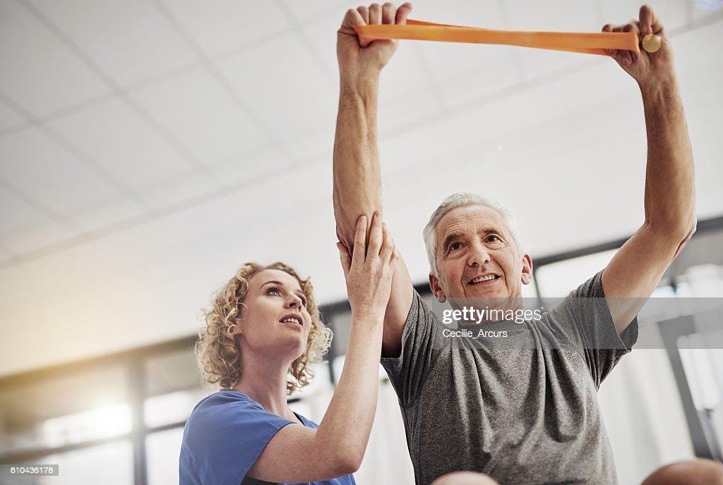 She'll get him fighting fit : Foto stock