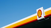 A Shell logo is pictured outside a Royal Dutch Shell petrol station in Hook near Basingstoke on January 20 2016 Royal Dutch Shell said it expected a...