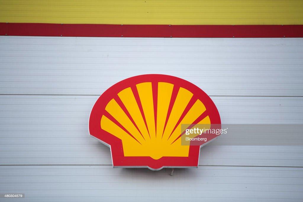 Shell logo sits on dis...