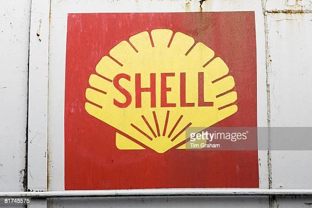Shell Oil Company logo on oil tank Gloucestershire United Kingdom