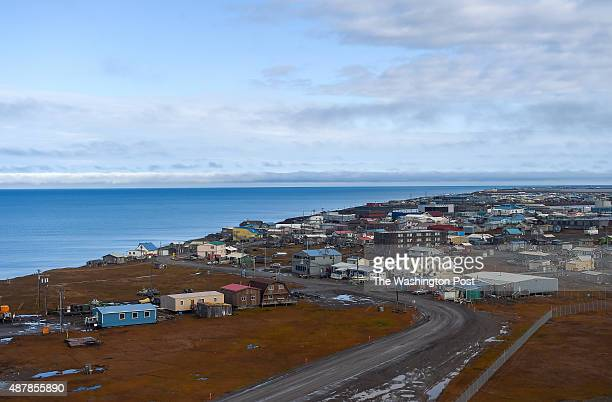 Shell Oil President Marvin Odum visits Barrow to check in on their Arctic drilling efforts on September 2 2015 in Barrow AK