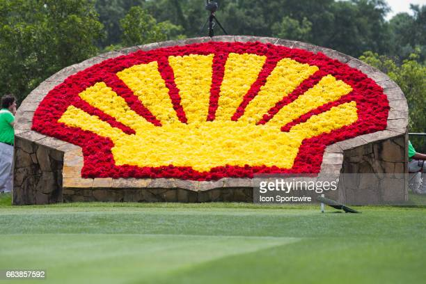 Shell Pecten decorated in flowers during Shell Houston Open on April 02 2017 at Golf Club of Houston in Humble TX