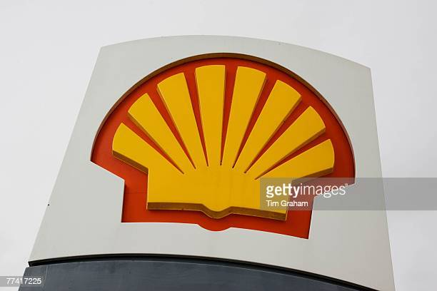 Shell petrol station sign Gloucestershire United Kingdom