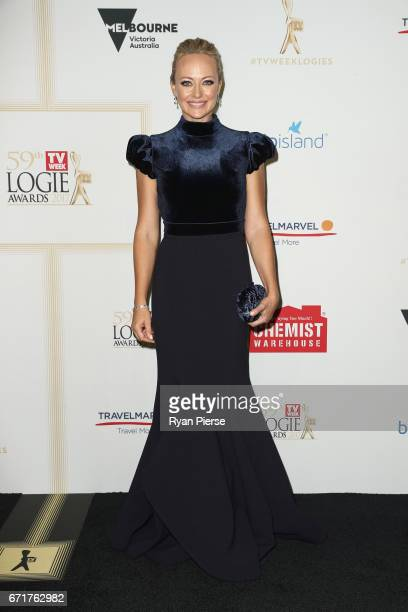 Shelley Craft arrives at the 59th Annual Logie Awards at Crown Palladium on April 23 2017 in Melbourne Australia