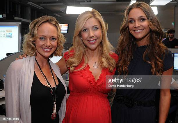 Shelley Craft Catriona Rowntree and Natalie Gruzlewski at the Channel Nine And Daily Telegraph telethon appeal for Queensland flood victims on...
