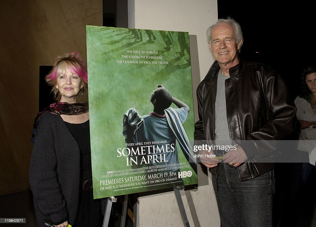 Shelley Fabares and Mike Farrell during 'Sometimes in April' Los Angeles Premiere Arrivals at Writers Guild of America Theatre in Beverly Hills...