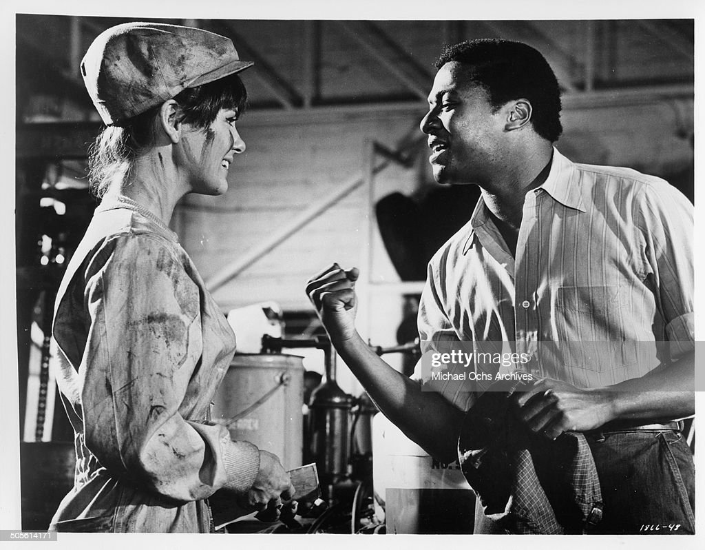 Shelley Fabares listens to D'Urville Martin in a scene from the movie 'A Time to Sing' circa 1968