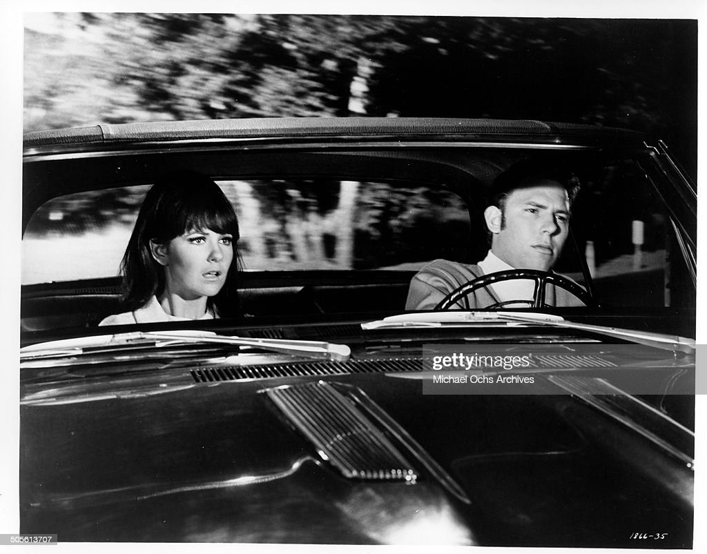 Shelley Fabares warns Hank Williams Jr too late of an oncoming car in a scene from the movie 'A Time to Sing' circa 1968