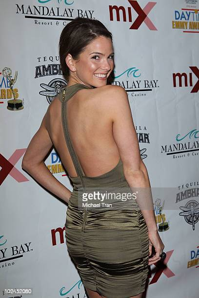 Shelley Hennig arrives to the 2010 Daytime Emmy Awards Official PreParty held at miX Lounge THEhotel at Mandalay Bay on June 26 2010 in Las Vegas...
