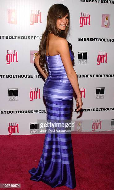 Shelley Hennig during ELLEGIRL's 1st Annual Hollywood Prom Arrivals at Hollywood Athletic Club in Hollywood California United States
