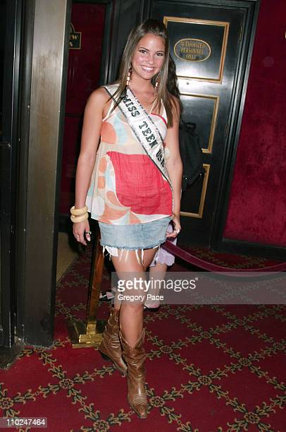 Shelley Hennig Miss Teen USA 2004 during 'The Island' New York City Premiere Inside Arrivals at Ziegfeld Theater in New York City New York United...