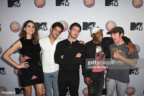 Shelley Hennig Tyler Posey Cody Christian Khylin Rhambo and Dylan Sprayberry arrive at MTV's 'Teen Wolf' and 'Sweet/Vicious' Premiere Event on...