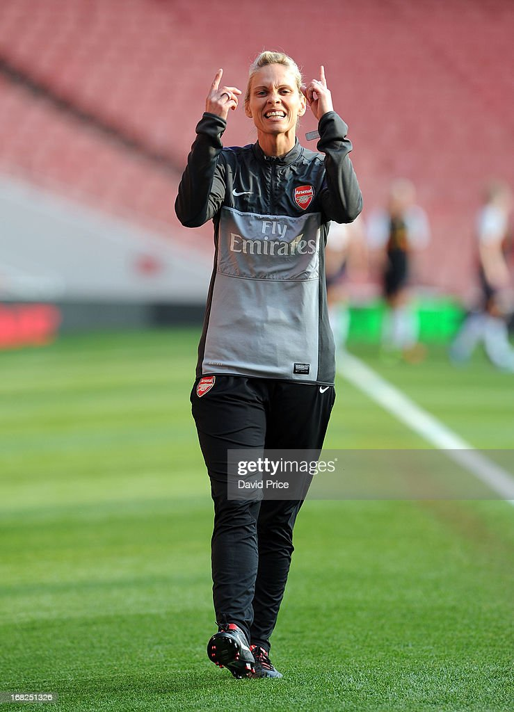 Shelley Kerr the Manager of Arsenal before the FA Women's Super League match between Arsenal Ladies FC and Liverpool Ladies FC at Emirates Stadium on May 07, 2013 in London, England.