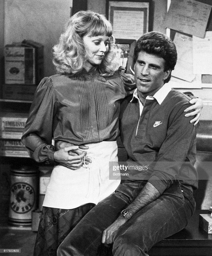 Shelley Long and Ted Danson in a scene from an episode of the NBCTV series 'Cheers'