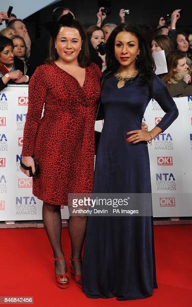 Shelley Longworth and Kathryn Drysdale during the 2012 NTA Awards at the O2 Greenwich London