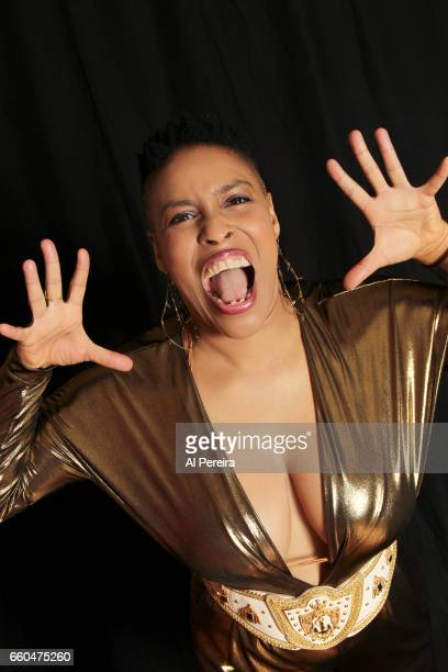 Shelley Nicole of Shelley Nicole's blaKbushe poses for a portrait on March 17 2017 in New York City